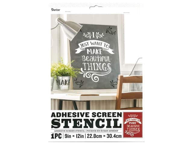 Darice Adhesive Screen Stencil 9 x 12 in. Beautiful Things