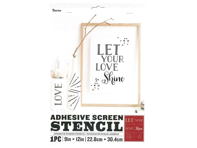 Darice Adhesive Screen Stencil 9 x 12 in. Let Love Shine