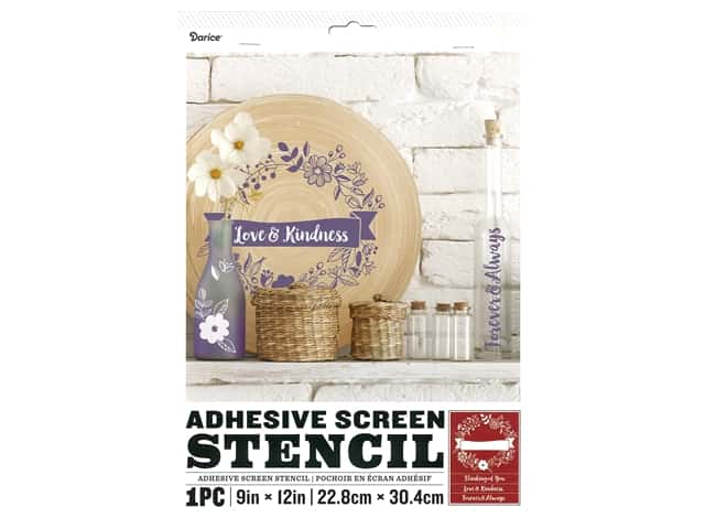 Darice Adhesive Screen Stencil 9 x 12 in. Floral Banner