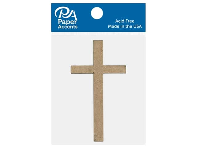 Paper Accents Chip Shape Thin Cross Natural 8 pc