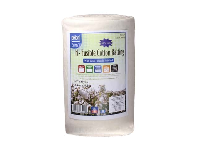 Pellon Batting Fusible Cotton With Scrim Grab N Go 60 in. x 6 yd