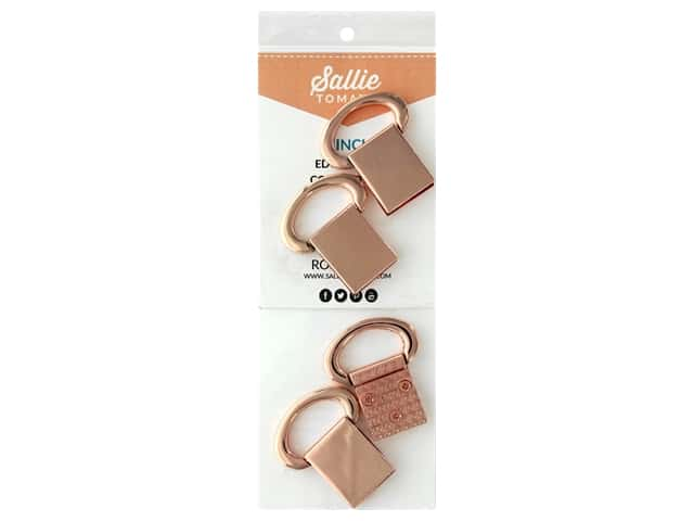 Sallie Tomato Hardware Edge Strap Connectors Copper/Rose Gold