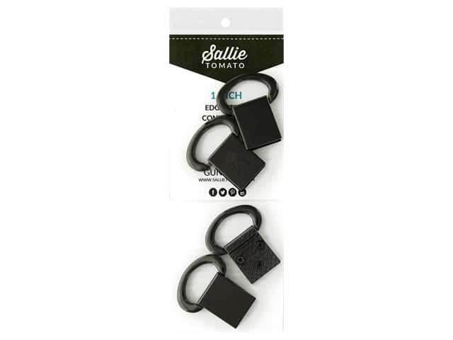 Sallie Tomato Hardware Edge Strap Connectors Black/Gunmetal