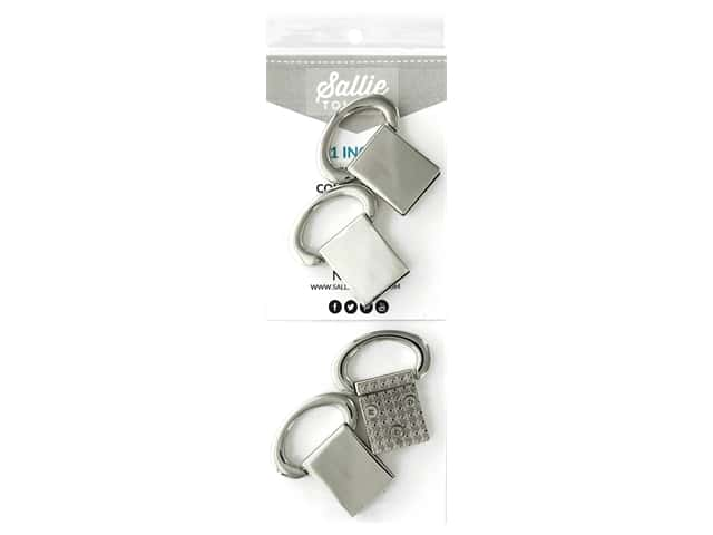 Sallie Tomato Hardware Edge Strap Connectors Silver/Nickel