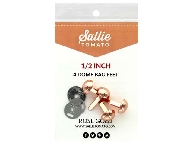 Sallie Tomato Hardware Bag Feet Dome .5 in. Copper/Rose Gold 4 pc