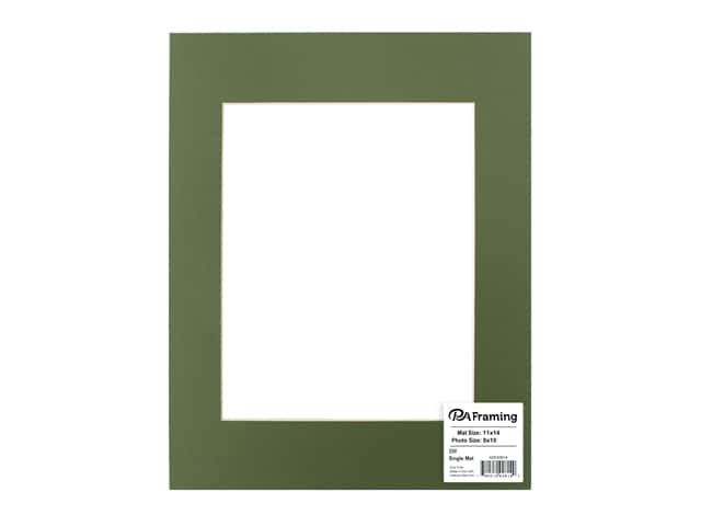 PA Framing Pre-cut Photo Mat Board Cream Core 11 x 14 in. for 8 x 10 in. Photo Dill