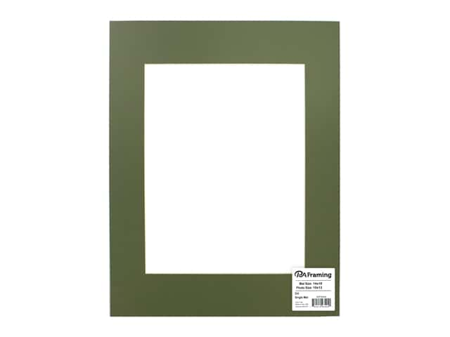 PA Framing Pre-cut Photo Mat Board Cream Core 14 x 18 in. for 10 x 13 in. Photo Dill