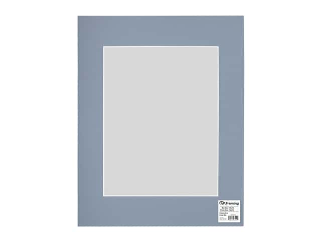 PA Framing Pre-cut Photo Mat Board White Core 14 x 18 in. for 10 x 13 in. Photo Brittany Blue