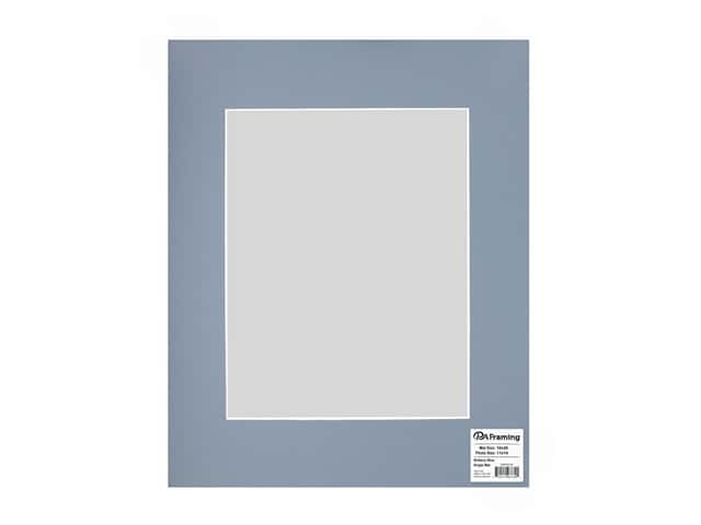 PA Framing Pre-cut Photo Mat Board White Core 16 x 20 in. for 11 x 14 in. Photo Brittany Blue