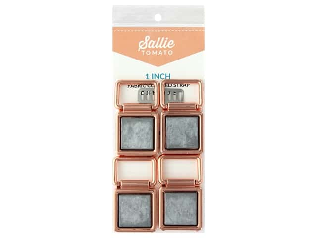 Sallie Tomato Hardware Fabric Cover Strap Connectors 1 in. Copper/Rose Gold
