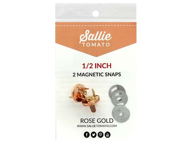 "Sallie Tomato Hardware Magnetic Snap .5"" Copper/Rose Gold"