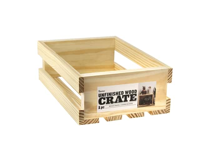 Darice Unfinished Wood Crate 11 3/4 x 9 1/2 in.