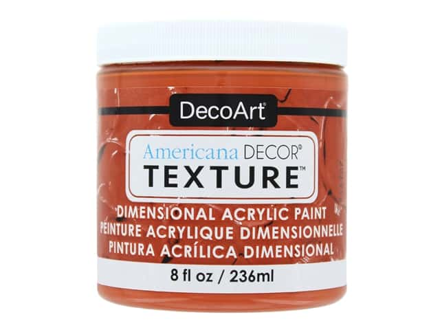DecoArt Americana Decor Texture Acrylic Burnt Orange 8 oz