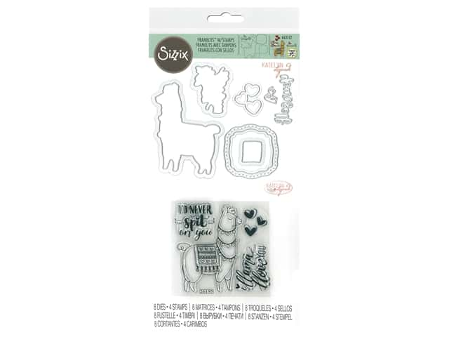 Sizzix Katelyn Lizardi Framelits Die & Stamp Set Llama Love