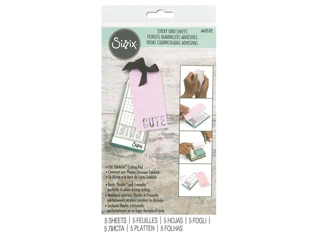 Sizzix Sticky Grid Sheet 2.5 in. x 4.5 in. Sidekick 5 pc