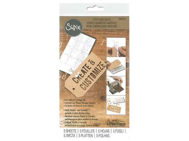 Sizzix Sticky Grid Sheet 2.5 in. x 4.5 in. Tim Holtz Sidekick 5 pc