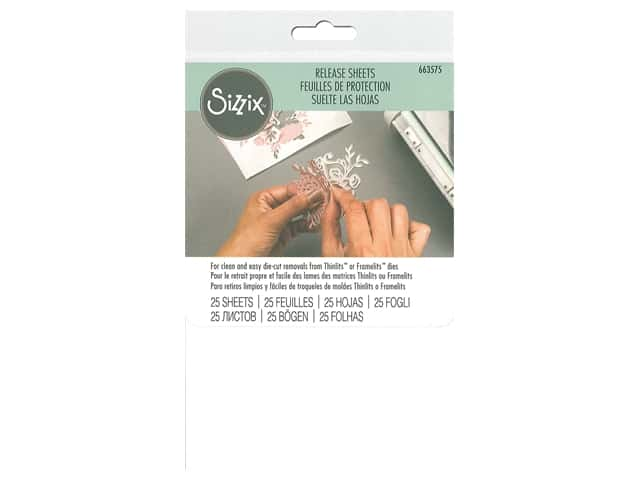 Sizzix Release Sheets 4 in. x 6 in. 25 pc