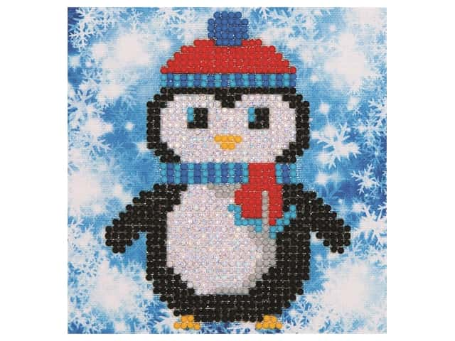 Diamond Dotz Mini Pillow Kit - Christmas Penguin