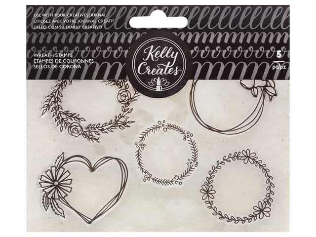 American Crafts Collection Kelly Creates Stamp Wreaths