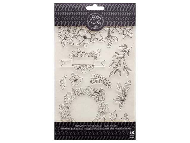 American Crafts Kelly Creates Stamp Set - Florals