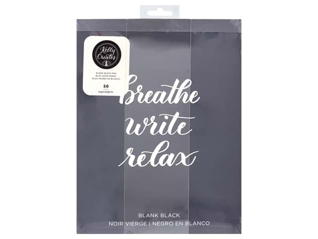 American Crafts Collection Kelly Creates Paper Pad 8.5 in. x 11 in. Blank Black