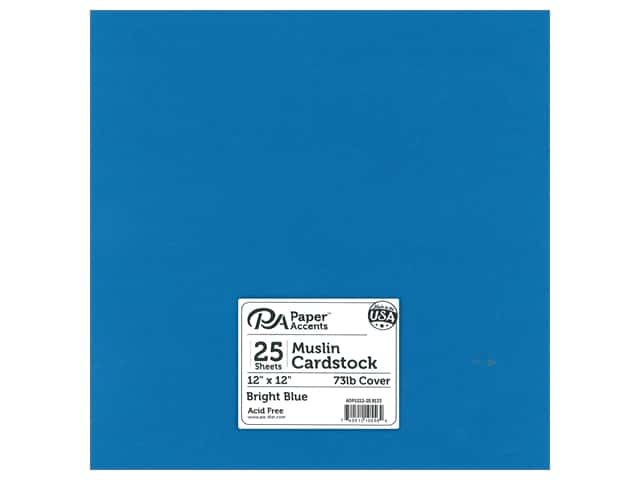 Paper Accents Cardstock 12 in. x 12 in. Muslin 73 lb Bright Blue