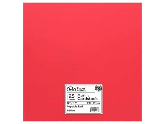 Paper Accents Cardstock 12 in. x 12 in. Muslin 73 lb Popsicle Red