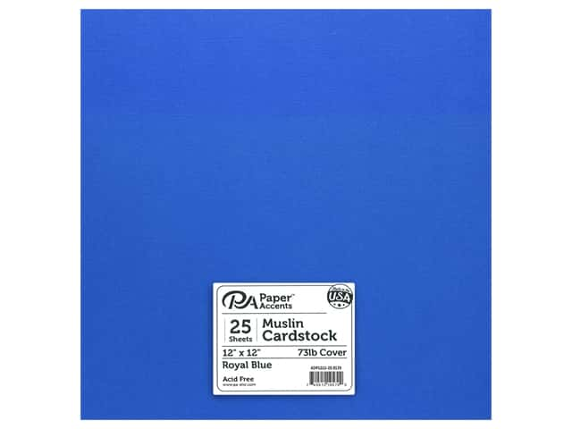 Paper Accents Cardstock 12 in. x 12 in. Muslin 73 lb Royal Blue