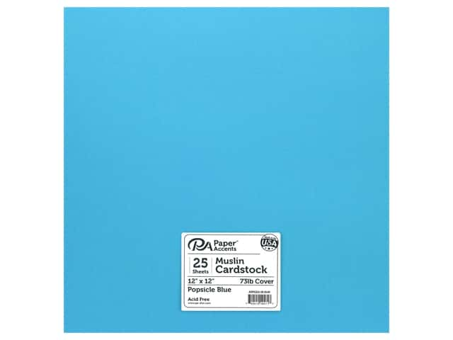 Paper Accents Cardstock 12 in. x 12 in. Muslin 73 lb Popsicle Blue