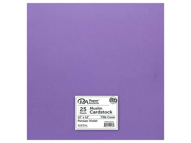 Paper Accents Cardstock 12 in. x 12 in. Muslin 73 lb Persian Violet