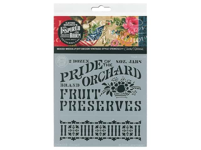 Cathe Holden Inspired Barn Stencil 6 x 6 in. Orchard
