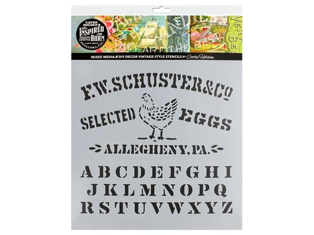Cathe Holden Inspired Barn Stencil 12 x 12 in. Eggs