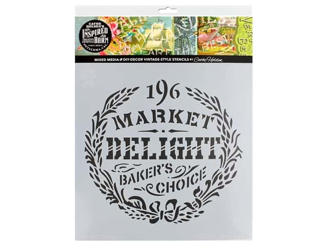 Cathe Holden Inspired Barn Stencil 12 x 12 in. Delight