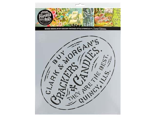 Cathe Holden Inspired Barn Stencil 12 x 12 in. Crackers