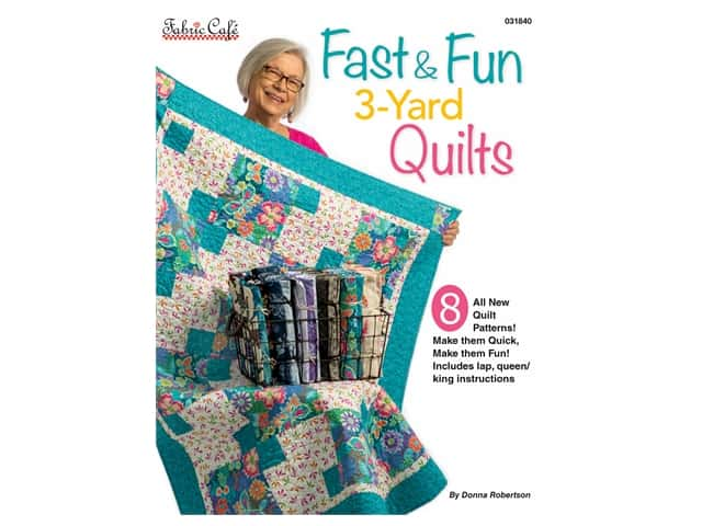Fabric Cafe Books Fast & Fun 3-Yard Quilts Book