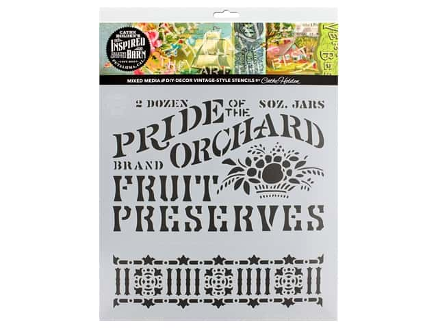 Cathe Holden Inspired Barn Stencil 12 x 12 in. Orchard