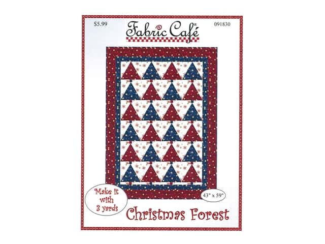 Fabric Cafe Christmas Forest Pattern