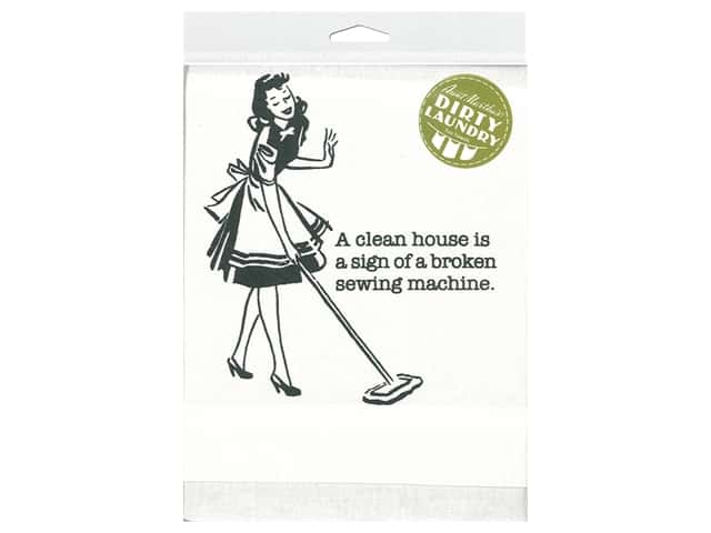 Aunt Martha's Dirty Laundry Tea Towel - A Clean House