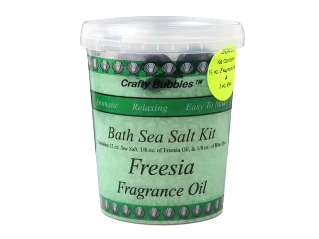 Crafty Bubbles Bath Sea Salt Kit Freesia