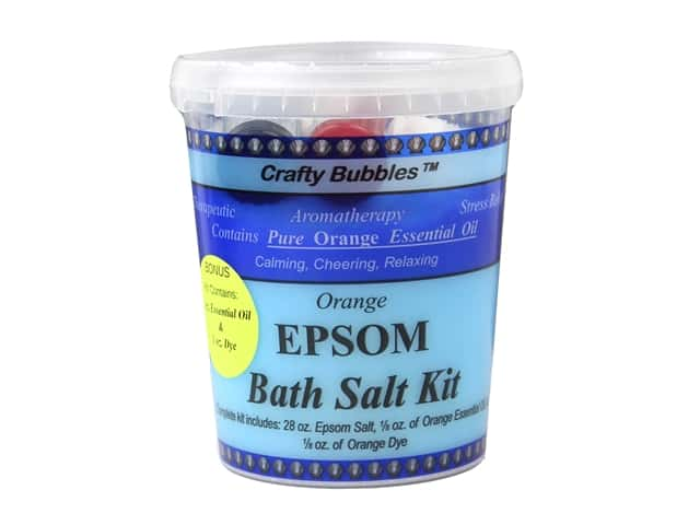 Crafty Bubbles Epsom Bath Salt Kit Orange