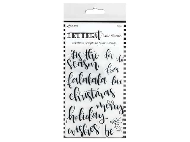 Ranger Letter It Stamp Set - Christmas