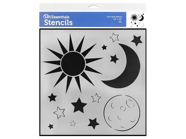 PA Essentials Stencil 12 x 12 in. Sun and Moon