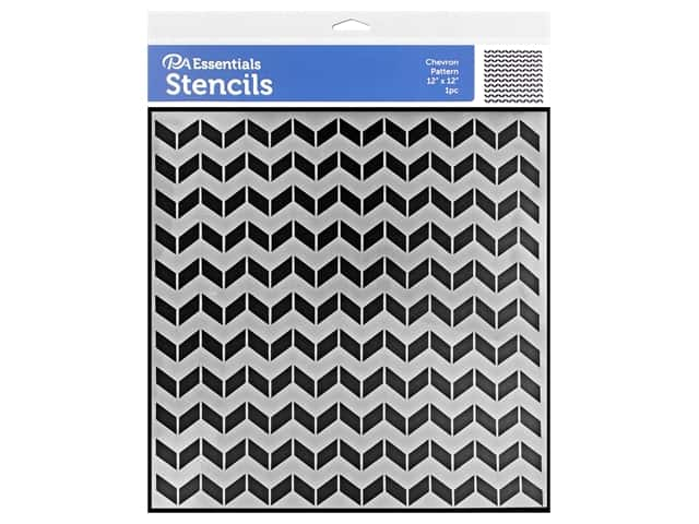 PA Essentials Stencil 12 x 12 in. Chevron Pattern