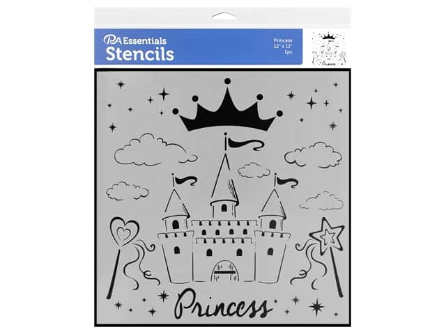 PA Essentials Stencil 12 x 12 in. Princess