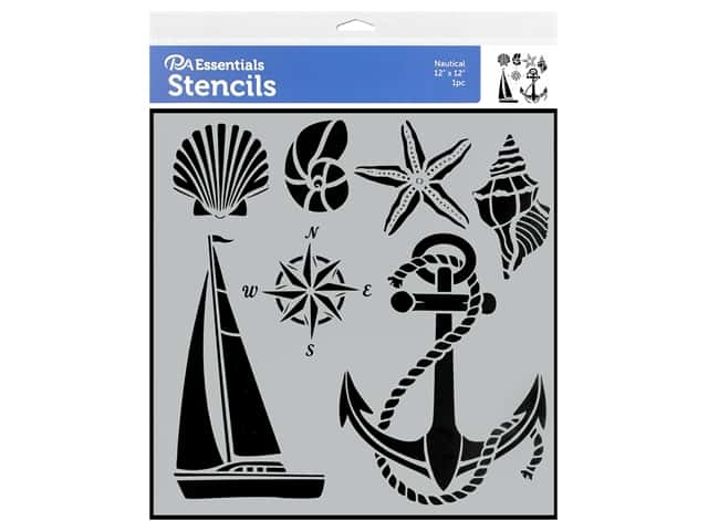 PA Essentials Stencil 12 x 12 in. Nautical
