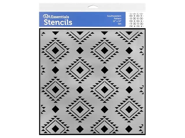 PA Essentials Stencil 12 x 12 in. Southwestern Pattern