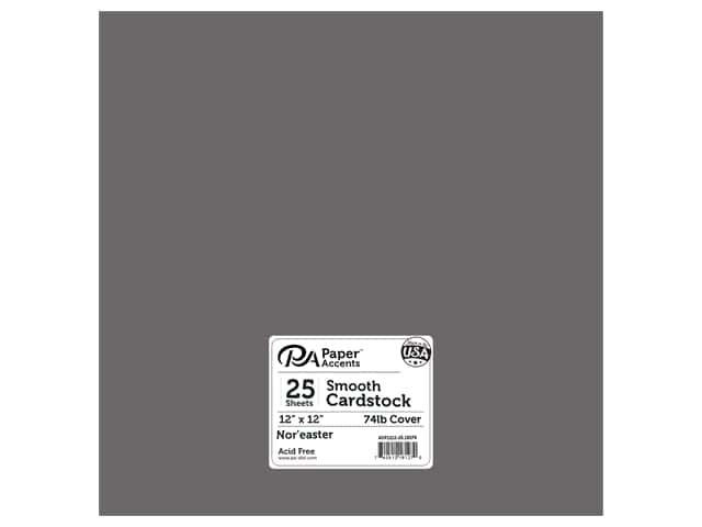 Paper Accents Cardstock 12 x 12 in. #18079 Smooth Nor'easter (25 sheets)