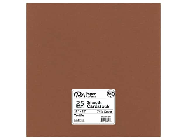 Paper Accents Cardstock 12 x 12 in. #18067 Smooth Truffle (25 sheets)