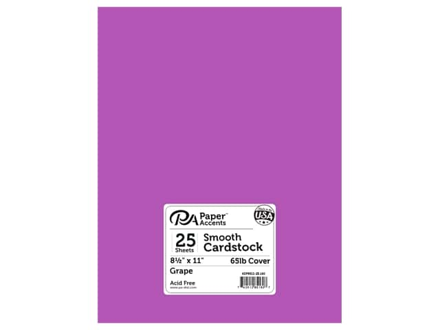 Paper Accents Cardstock 8 1/2 x 11 in. #160 Smooth Grape (25 sheets)