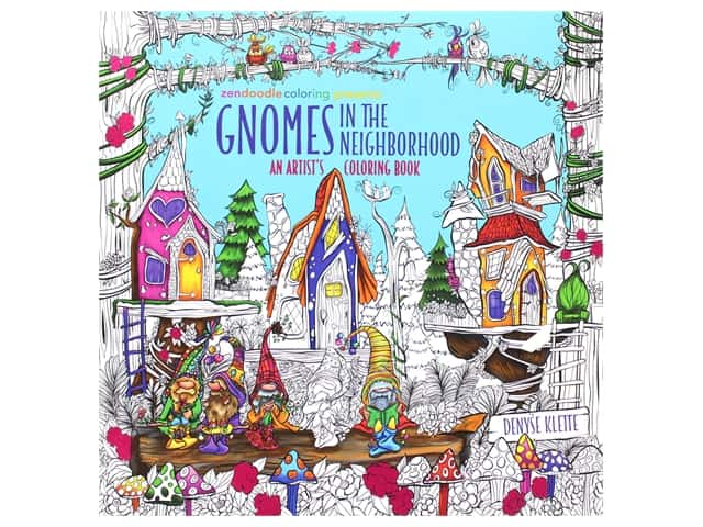 Castle Point Zendoodle Gnomes In The Neighborhood Coloring Book